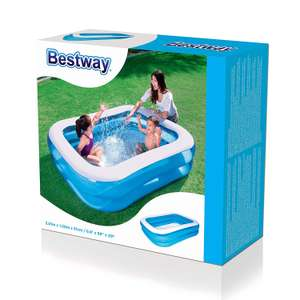 Bestway 54005 Rectangular Inflatable Family Pool - 201 x 150 x 51 cm, Blue £12.32 (Prime) / £16.81 (non Prime) at Amazon
