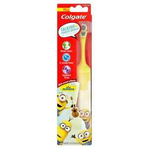 Colgate Minions Talking Extra Soft Kids Battery Toothbrush £1.20 Superdrug