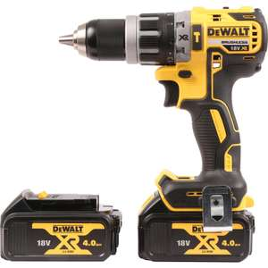 DeWalt DCD796M2-GB 18V Li-Ion Brushless Combi Drill 2 x 4.0Ah £154.98 @ Toolstation