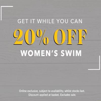 20% off womens swimwear @ George online only