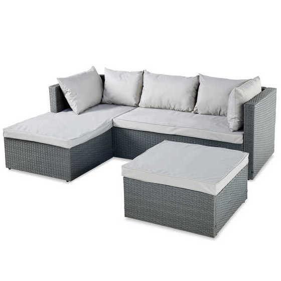 Aldi Anthracite Rattan Effect Corner Sofa - £203.94 Delivered @ Aldi