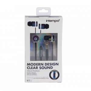 Intempo Iridescent In-Ear Earphones £1.50 with Free C&C @ Ryman - In black or white