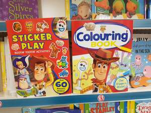 Toy Story colouring and sticker books £1 Poundland