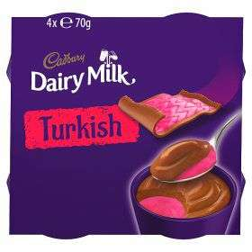 Cadbury Dairy Milk Turkish Dessert 4 x 70g half price £1 @ Asda