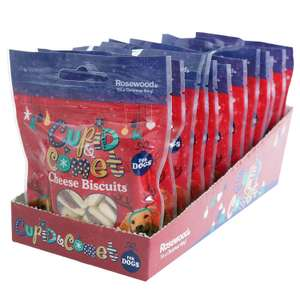 Cupid & Comet Rosewood Christmas Individually Sealed Packets For Dogs, 40 g, Cheese Biscuits, Pack of 12 £5.15 Amazon add on item