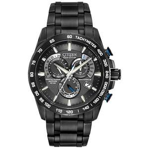 Citizen AT4007-54E Eco Drive Radio Controlled Sapphire IP Perpetual A-T Chronograph Black, £279 at E.Jones-with code
