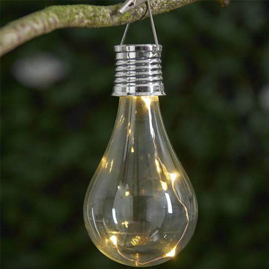 Wilko Warm White Solar Light Bulb Clip Light - Two for £4 @ Wilko - Free C&C