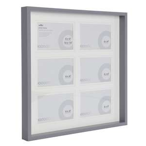 Wilko 16 x 16 inch 6 Multi Aperture Grey Photo Frame £5 (free C&C)