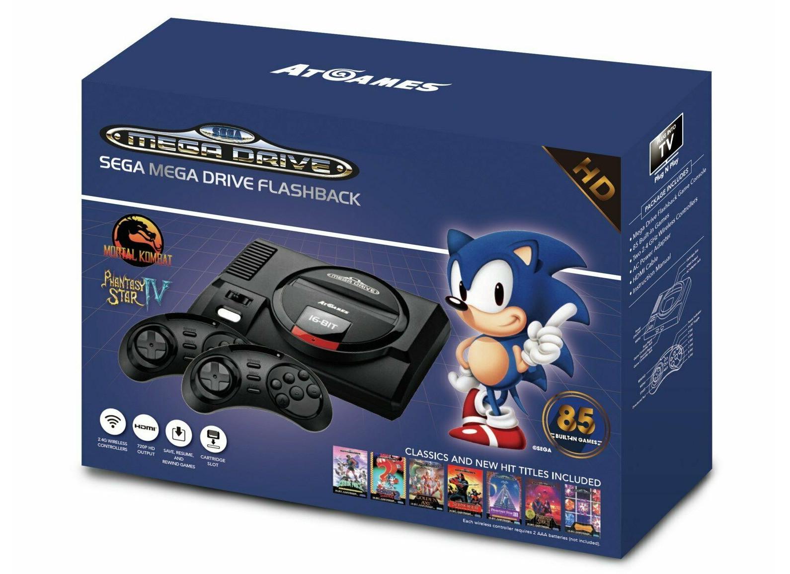 SEGA Mega Drive Flashback with 85 Games & 2 Wireless Controllers - £27.99 delivered @ Argos eBay