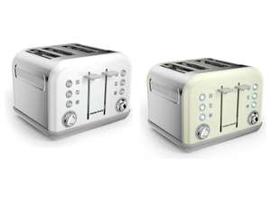 Morphy Richards Accents 4 Slice Wide Slot Variable Toaster 1800W - White / Ivory Cream - £23.99 delivered @ Argos eBay