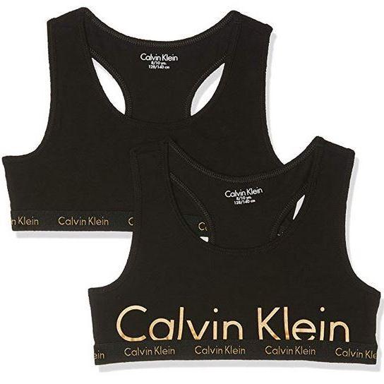 Calvin Klein Girl's Bralette Bustier, Black (1Black/1Black 010), 46L 4-5 years Amazon add on item £6.66