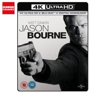 UNIVERSAL Jason Bourne UHD 4K Bluray for £7.97 Free C&C @ Currys