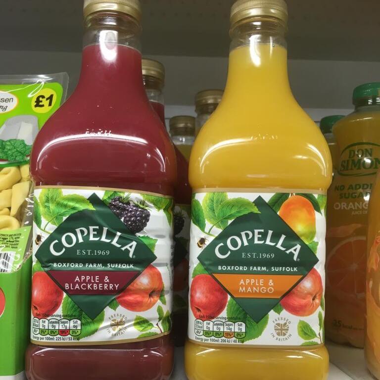 Copella Juice 1.35L - Apple & Blackberry or Apple & Mango only £1 at Heron Foods