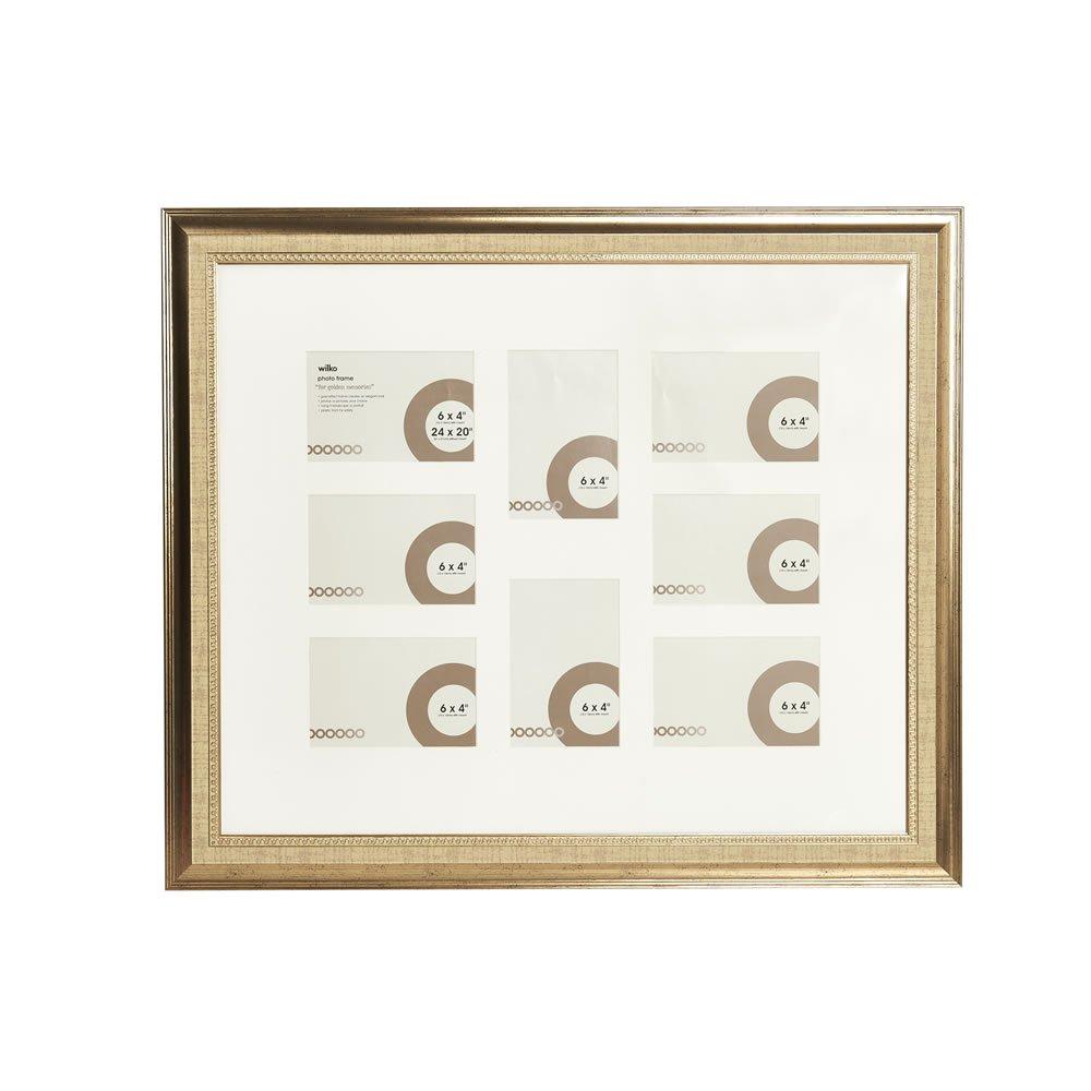 Wilko 20 x 24 inch 8 Multi Aperture Gold Photo Frame £3 (free C&C)