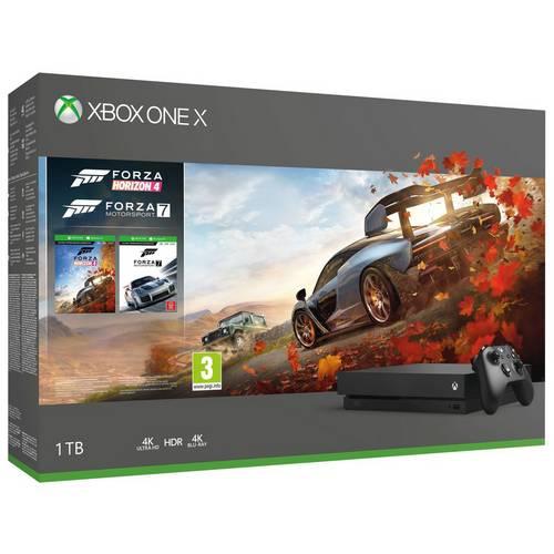 Microsoft Xbox One X 1TB Console & Forza 4 and Forza 7 Bundle - Black @ Ebay Argos (USE CODE)