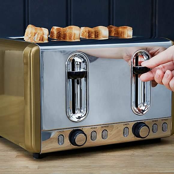 Dunelm Gold Effect 4 Slice Toaster £15 @ Dunelm