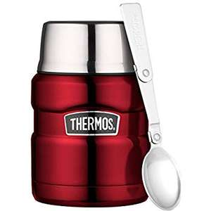 Lightning Deal: Thermos Stainless King Food Flask, Red, 470 ml for £13.99 Prime/£18.48 Non Prime @ Amazon UK