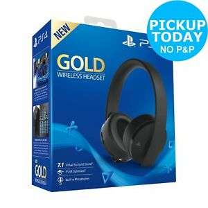 PS4 Gold Wireless 7.1 Surround Sound Headset - £49.99 at Argos Ebay Store Click And Collect