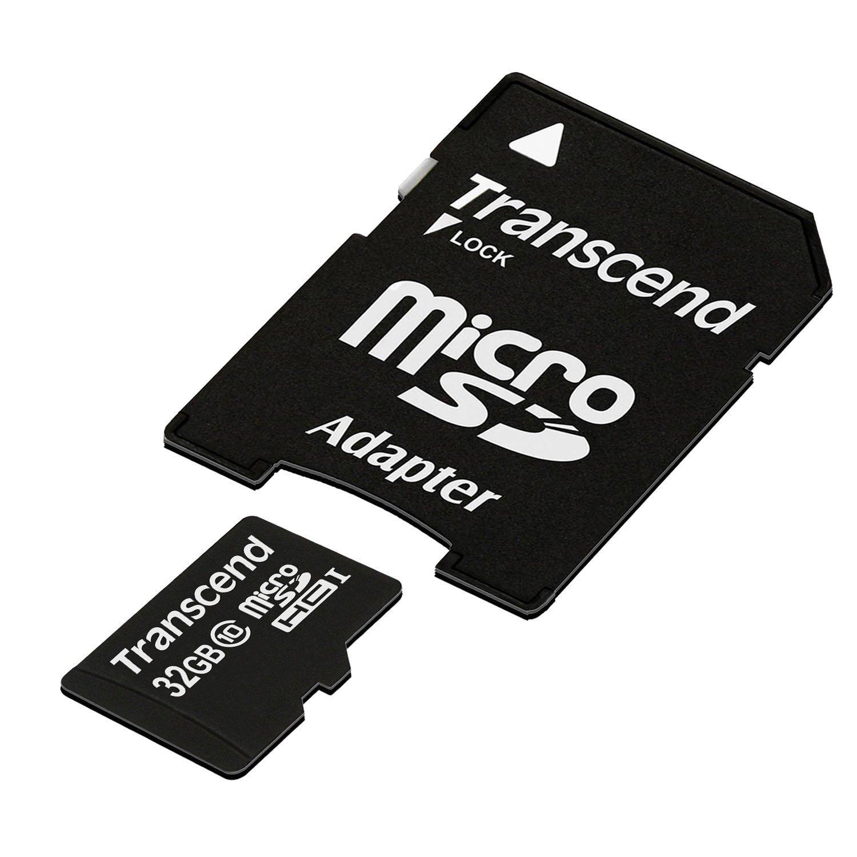 Transcend 32GB microSDXC/SDHC Class 10 (Premium) with Adapter £4.19 [Add On] @ Amazon