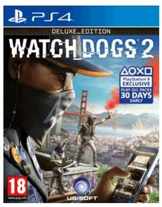 Watchdogs 2 : Deluxe Edition (PS4 / XBox One) £6.99 @ Game