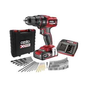 Ozito Power X Change 18V Drill Driver Kit with 71 Accessories - £56 @ Homebase (Free C&C)
