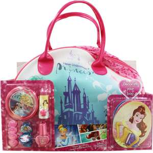 Disney Princess Decorate Your Beauty Bag @ The Works Free C&C £6.40 With Code Provided