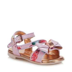Baker by Ted Baker - Girls' Lilac Floral Sandals @ Debenhams Free C&C Free Delivery With Code Provided  £22.40