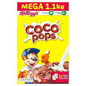 Coco Pops / Crunchy Nut Cornflakes 1.1kg - £2.99 each or 3 for £8 @ Farmfoods