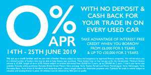 0% APR / No Deposit Used Car Trade-In Deal @ Bristol Street Motors