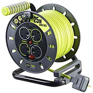 Masterplug OMU25134SL-PX 25 m 4 Socket Electrical Cable Reel with Safety Thermal Cut Out and Reset £26.50 @ Amazon