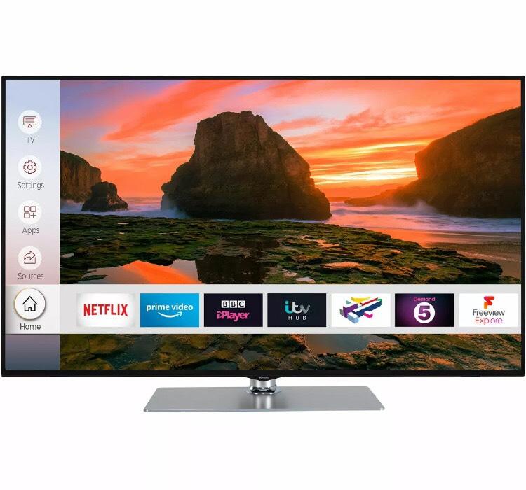 Techwood 43AO8UHD O8UHD 43 Inch 4K Ultra HD A+ Smart LED TV 3 HDMI at eBay/ao for £249
