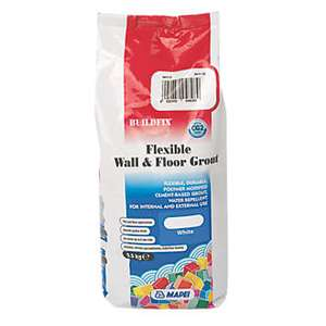Mapei Buildfix Flexible Wall And Floor Grout 2.5Kg White  Free C&C @ Screwfix - 5 Year Manufacturer's Guarantee £4.99