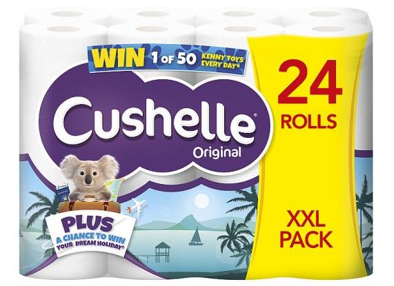 XXL Pack Cushelle Toilet Tissue 24 Roll White for £8 @ Tesco (from 17/06)