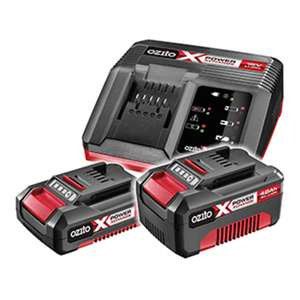Half price battery and charger kit with any X-Change tool purchase // In-store only - £52.50 at Homebase