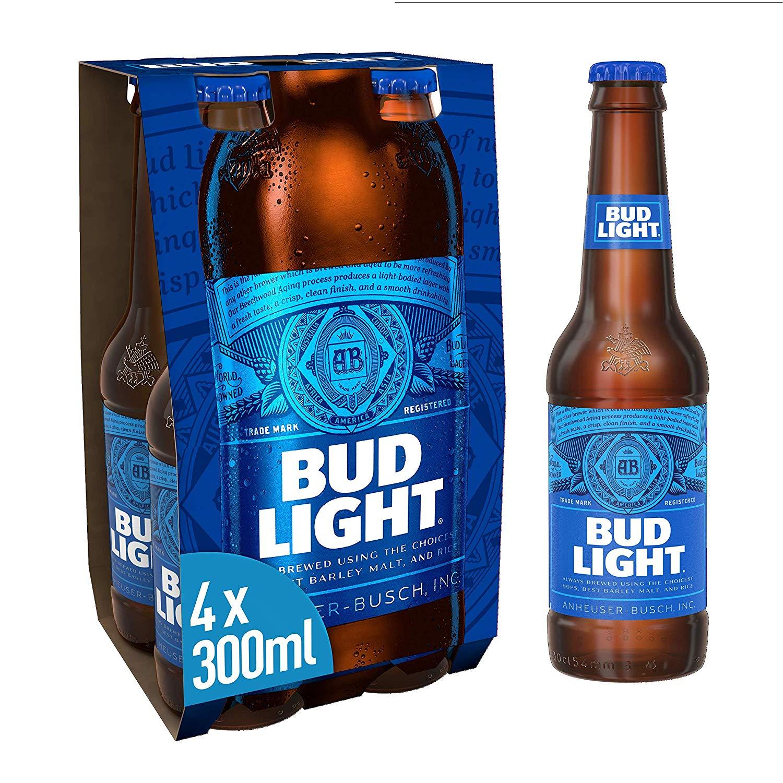 Bud Light 4 x 300ml Bottles £2 Tesco INSTORE & ONLINE