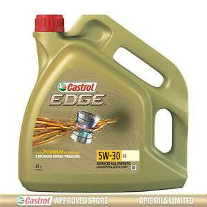 Castrol EDGE Titanium 5W-30 LL Full Synthetic Engine Oil 4 Litre - £30.85 @ castrolapprovedstore_opieoilslimi eBay