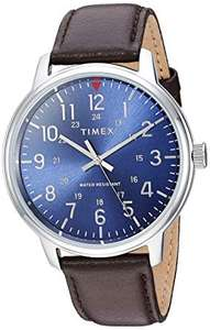 Timex Style Men's Blue Dial Brown Leather Strap Watch Model number: TW2R85400 - £32.99 at H Samuel or £29.70 with code