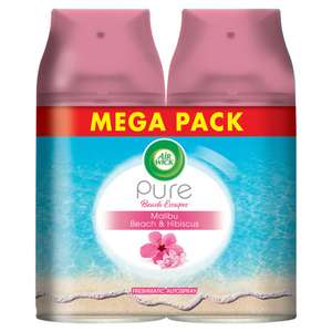 250ml X2 Mega Pack Air Wick Twin Freshmatic Refill : Malibu Beach & Hibiscus, Bali, Spring, Cherry, Now £4 @ Wilko ( Free C&C )