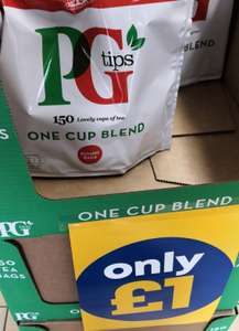 150 PG Tips one cup for £1 in store @ one below