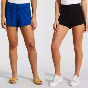 Ladies Jersey Shorts (6 colours available) just £2.40 click & collect @ Matalan