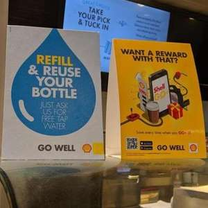 Free tap Water Refills at Shell