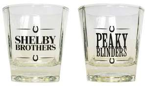 Peaky Blinders Set of 2 Whiskey Glasses now £2.50 free click and collect at Argos