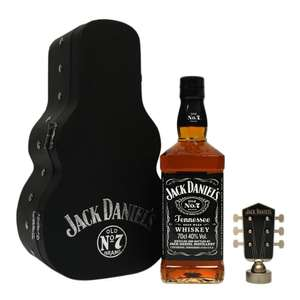 Jack Daniels 70cl with guitar case and bottle top £29.58 @ Jack Daniels