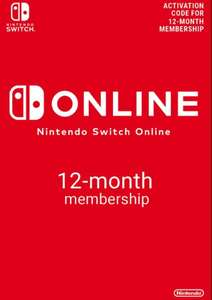 Nintendo Switch Online 12 Month Membership £14.99