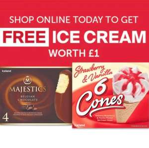 Free Ice Creams with online Iceland order (Min £25 spend) - Today only @ Iceland