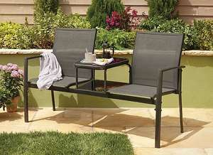 Miami Jack and Jill Garden Seat with Shelves - £50 @ George (p&p £2.95)