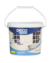 5L Deco Style Masonry Wall Concrete Paint : Country Cream Or White £6.49 @ Aldi ( Starts 23rd June Instore )