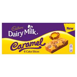 Cadbury Milk & caramel 6pk Cake slices - £1.90 / 100% Free (after Checkoutsmart cashback) at Tesco