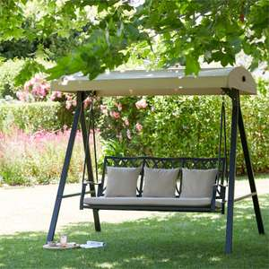 Saltaire Swing Seat - Cream - £202.30 at Homebase