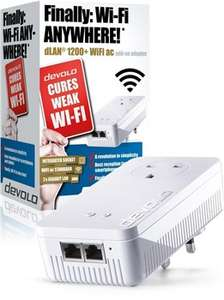 Devolo dLAN® 1200+ WiFi ac Powerline Add-On Powerline Adapter £61.99 Delivered at Box